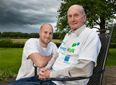 Gerry Anderson MBE with his son Jamie