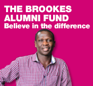 The Brookes Alumni Fund - believe in the difference