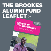 The Brookes Alumni Fund leaflet