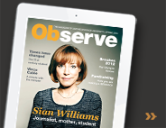 Observe magazine (Sian Williams edition)