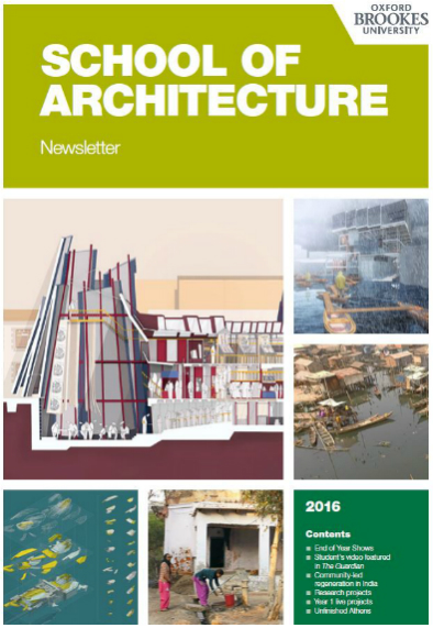 download the School of Architecture newsletter