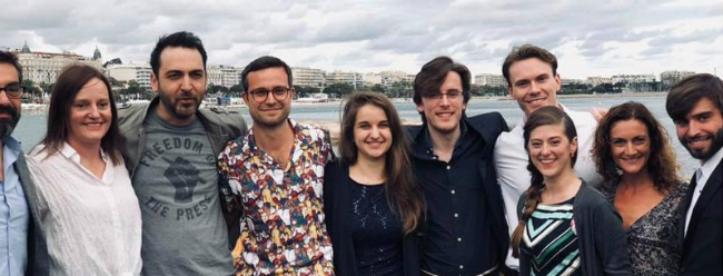 Brookes alumni and students at Cannes