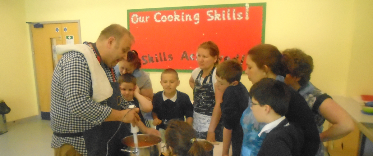 Cooking at Chiltern Wood school