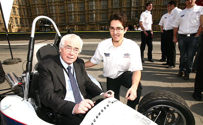 Phil Willis MP with Formula student car
