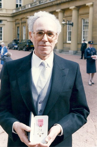 Ivor receiving his MBE in 1992