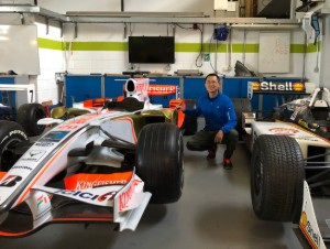 Shuofu Yang in Wheatley's motorsport lab